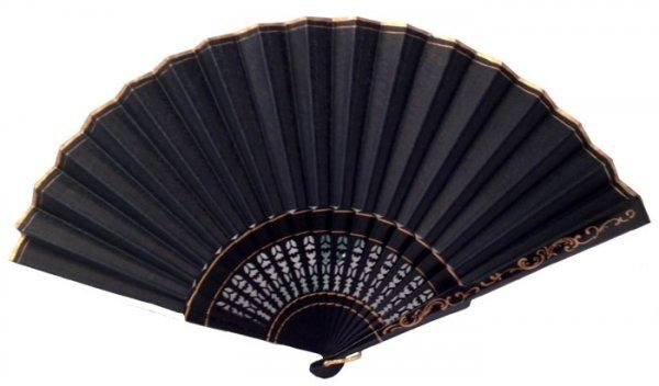 Flamenco Fächer Schwarz