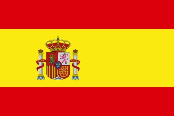 Spanische Flagge Fahne