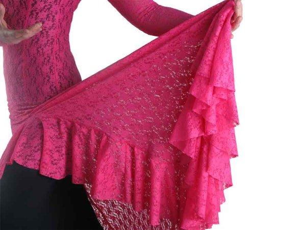 Pink Spitzen Überkleid
