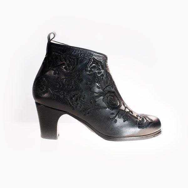 Flamenco Schuh Botin Bordado